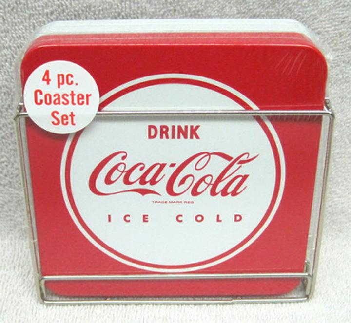 Coca Cola Drink Coca Cola Ice Cold Coaster Set New